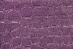 Purpurfärgad bakgrund från ett mjukt stoppningtextilmaterial, closeup Royaltyfri Foto