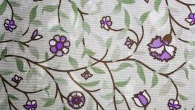 Purpurfärgad blommatapet Arkivbild
