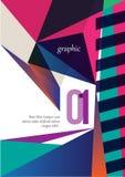 Purpurfärgad broschyrdesign Arkivbild