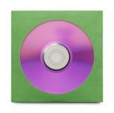 Purpurfärgad CD med fallet fotografering för bildbyråer
