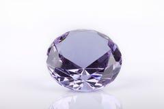 Purpurfärgad crystal ädelsten Royaltyfria Bilder