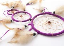 Purpurfärgad dreamcatcher Royaltyfria Bilder