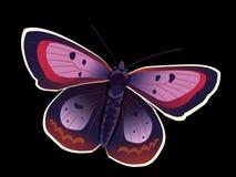 Purpurfärgad fjäril Arkivfoton