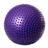 Purpurfärgad gymnastisk boll royaltyfri bild