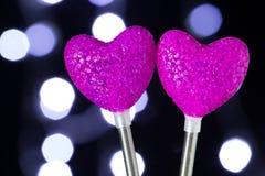 Purpurfärgad hjärta Royaltyfria Bilder