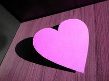 Purpurfärgad hjärta Arkivbild