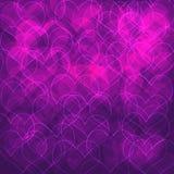Purpurfärgad hjärtabakgrund royaltyfri illustrationer