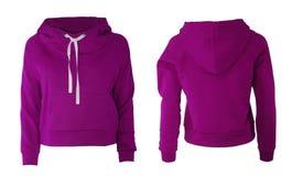 Purpurfärgad hoodie Arkivfoto