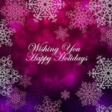 Purpurfärgad jul Fotografering för Bildbyråer