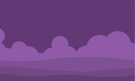 Purpurfärgad kulle för modig illustration Fotografering för Bildbyråer