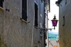 Purpurfärgad lampa Fotografering för Bildbyråer