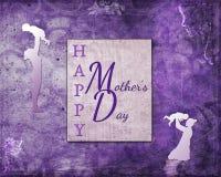 Purpurfärgad lycklig dag för moder` s Arkivbild