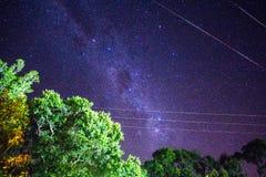 Purpurfärgad nebulosa Royaltyfria Foton