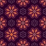 Purpurfärgad och orange blommamodell Arkivbild