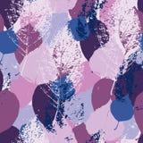 Purpurfärgad och rosa bladmodell royaltyfri illustrationer