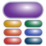 Purpurfärgad oval knapp för vektor knappar färgade den set vektorn för den olika illustrationen Royaltyfri Fotografi