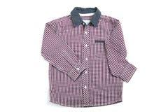 Purpurfärgad plädskjorta Royaltyfria Bilder