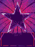 Purpurfärgad röd bakgrund för stjärna Royaltyfria Bilder