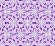 Purpurfärgad sömlös blom- bakgrund med blomman komponerade av fragment Fotografering för Bildbyråer