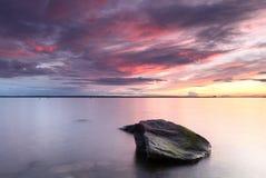 Purpurfärgad solnedgång Royaltyfria Foton