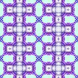 Purpurfärgad upprepande abstrakt geometrisk sömlös modell Royaltyfri Foto