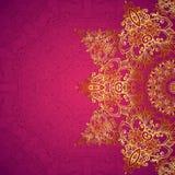 Purpurfärgad utsmyckad bakgrund för tappningbröllopkort stock illustrationer