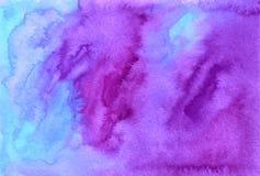 Purpurfärgad vattenfärg målad vektorbakgrund Fotografering för Bildbyråer