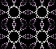 Purpurfärgad vitsvart för sömlösa prydnader Royaltyfria Bilder