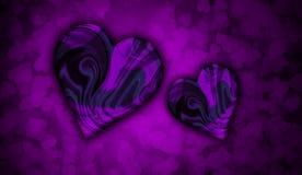 Purpurfärgade digitala modellhjärtor för valentin dagbakgrund stock illustrationer