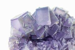 Purpurfärgade fluoritekristaller Royaltyfria Foton