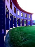 Purpurfärgade kolonner Arkivfoto