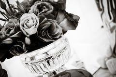 Purpurfärgade Lisianthus - svart & vit Fotografering för Bildbyråer