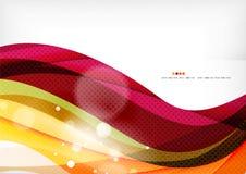 Purpurfärgade och orange färglinjer royaltyfri illustrationer