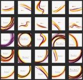 Purpurfärgade och orange färglinjer på vit stock illustrationer