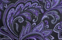 Purpurfärgade paisley Arkivfoto