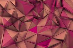Purpurfärgade trianglar i vibrerande miljö Royaltyfria Bilder