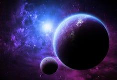 Purpurfärgade världar - beståndsdelar av denna bild som möbleras av NASA Arkivbild