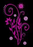 Purpurfärgade vinrankor i den ljusa solen royaltyfri illustrationer