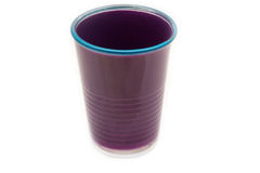 Purpurfärgat exponeringsglas med blåa detaljer Royaltyfri Foto