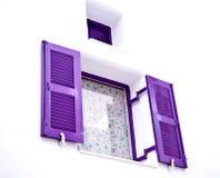 Purpurfärgat fönster Royaltyfria Foton