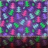 Purpurfärgat kort för jul med stället för text Royaltyfri Bild