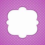 Purpurfärgat kort för pricktappninginbjudan stock illustrationer