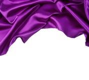 Purpurfärgat silke Arkivfoton