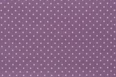 Purpurfärgat tyg och vit mycket liten polka Dots Background royaltyfri foto