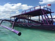 Purpurowa łódź Fotografia Stock