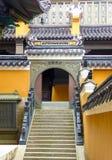 Purpurowa bambusowa gaj świątynia Zdjęcia Stock