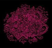 Purpurowa czarna kwiecista abstrakcja Zdjęcia Stock