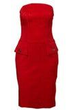 Purpurowa czerwieni suknia Fotografia Stock