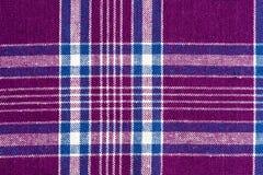 Purpurowa i biała tkanina Zdjęcia Royalty Free