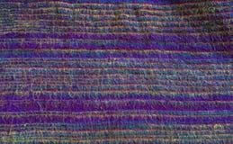 Purpurowa indyjska sukienna tekstura Fotografia Stock